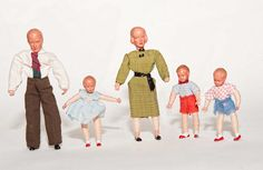 Dolls like my mothers from her childhood dollhouse. | MIB VINTAGE Caco SHACKMAN German Bendy Minature by Frankiesteinz