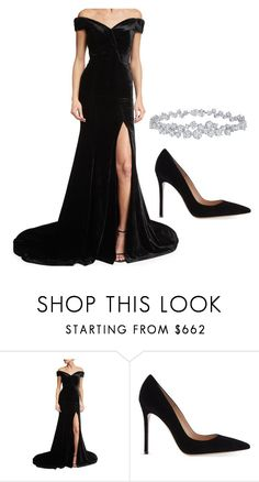 Elegance by ofwfasion on Polyvore featuring Rachel Gilbert, Gianvito Rossi and Harry Winston