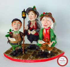 Carol Singers - Saracino Christmas Tree - cake by Calli Creations