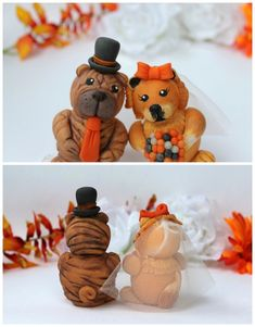 Wedding dog cake topper Chow Chow and Shar Pei cake topper Dog Wedding, Fall Wedding, Custom Wedding Cake Toppers, Wedding Cakes, Dog Cake Topper, Chow Chow Dogs, Shar Pei, Teddy Bear, Pets