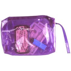 CLEAR PURPLE POUCH ($15) ❤ liked on Polyvore featuring bags, wallets, fillers, accessories, shoulder bags, purple bag, purple wallet, clear pouch bags and pouch bag