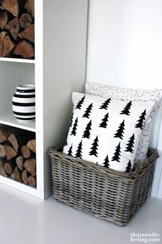 Via That Nordic Feeling | Fine Little Day Gran Cushion | Firewood