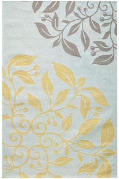 area rug in grey blue and yellow - perfect for the master bedroom at the foot of the bed or for the sitting area.