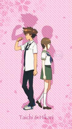 Taichi x Hikari Manga Pictures, Cute Pictures, Digimon Frontier, Digimon Tamers, Digimon Digital Monsters, Digimon Adventure Tri, Anime Kawaii, Cute Creatures, Pokemon