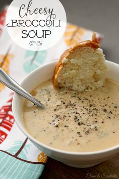 Creamy broccoli cheese soup. Easy to prepare for lunch or dinner.