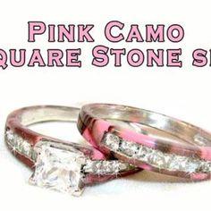 Pink & Camo wedding set