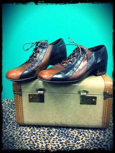 60's designers | Vintage 60s FLORSHEIM Designer Collection Two Tone MOD Dress Shoes ...