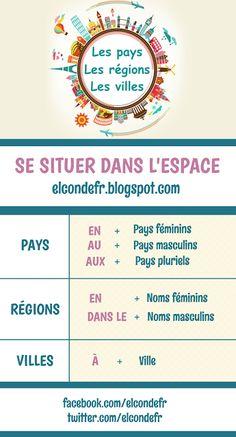 El Conde. fr: Les prépositions de pays, régions et villes