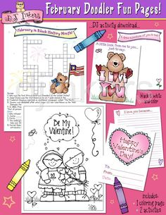 February Doodler Fun Pages printable activities