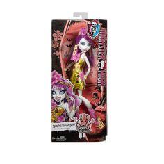 Monster High - Spectra Vondergeist baba Vegyél részt Spectra-val a virágos Tiki partin! Spectra és barátai készen állnak egy fergetegesen vad vakációra, ahol kötelező dzsungeles ruhában megjelenni! Spectra egy szellem lánya, most egy igazán különleges ruhakölteménnyel, és lélegzetelállító kiegészítőkkel jelenik meg.... Baba, Monster High, Energy Drinks, Spectrum