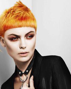 Hairstyle Coupe Artistique Orange color