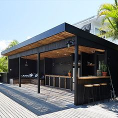 Outdoor kitchen - Four open plan beach houses on one property means there's loads of spaces for all of our guests to enjoy You can pull up a chair under a palm tree or soak up the sun by the pool Cook up a feast in - -