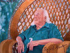 Rafael Alberti. Retrato al óleo de María Silvestre.