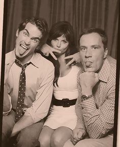 so cute...matt bomer (neal), tiffani thiessin (elizabeth), and tim dekay (peter) mess around together