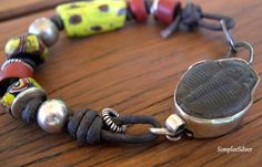 African Trade Bead Bracelet. $115.00, via Etsy.