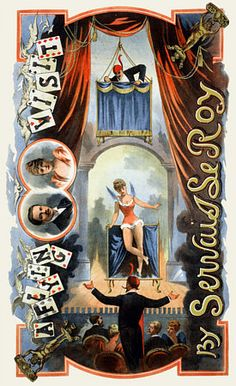 Servais Le Roy Magician Vintage Magic & Circus Posters and Prints #magicians #magic poster