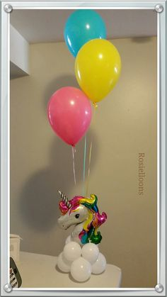 globos centerpiece unicorn