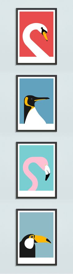 From the king to the queens favourite to the pink and the Guinness drinker - our bird mug shot wall prints are available now in a variety of colours. See the store for more feathered friends. #wallart #wallprints #birdprint #swan #penguin #flamingo #toucan #birdillustration #birdlover #walldecor #homeinspo