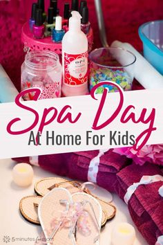 DIY Spa Day For Kids - How to host an at-home spa day for your kids. It can be super simple or fancy enough for a birthday party. # diy spa birthday party How to Plan a Spa Day for Girls Spa Day For Kids, Spa Day At Home, Home Spa, Diy Spa Day, Spa Birthday Parties, Slumber Parties, 10th Birthday, Spa Day Party, Birthday Ideas