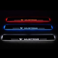 61.20$  Buy here - http://alilhh.worldwells.pw/go.php?t=32468011980 - LED door sill for Ford Mustang 2015 2016 Led moving door scuff plate welcome pedal lights Front 2pcs accessories