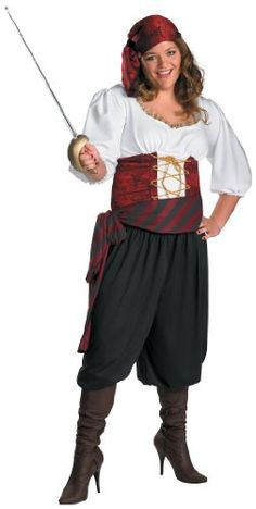 Disguise Inc - First Mate Adult Plus Costume  - Click image twice for more info - See a larger selection womens  pirate costume at  http://costumeriver.com/product-category/womens-pirate-costume/ - womens, holiday costume , event costume , halloween costume, cosplay costume, classic costume, scary costume, pirate, classic costume, clothing