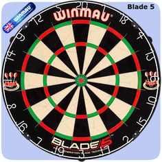 Winmau Blade 5 Dartboard - 5th Generation - with Rota Lock System - Blade 5 - http://www.dartscorner.co.uk/product_info.php?products_id=19407