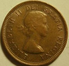 Although Queen Elizabeth II's coronation was not held until June of she acceeded to the throne when her father King George VI passed away on February of As custom dictated, the Royal Canadian Mint ordered new obverse dies to. Canadian Penny, Canadian Coins, Valuable Coins, Coins Worth Money, Coin Worth, Old Money, World Coins, Rare Coins, King George