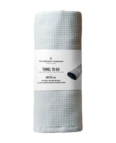 The Organic Company - TOWEL TO GO. Designed for sports, yoga and the beach. Fold into the strap for easy fit in your gym bag. 185 kr.