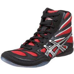best cheap d6894 7c5a8 Amazon.com   ASICS Men s Split Second 8 Wrestling Shoe, Black Red Silver,  11.5 M US   Wrestling