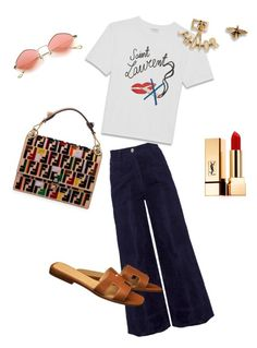 """Summer look!💋"" by pirjo-kivimaki on Polyvore featuring Tomcsanyi, Fendi and Yves Saint Laurent"