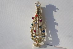 Chandelier Cage Christmas Tree Pin, Book Piece by VintageUndertheSea on Etsy
