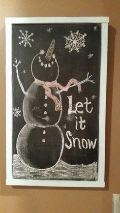 Snowman chalkboard #msjbez