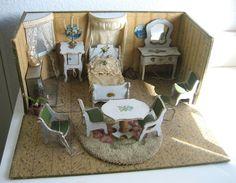 Antique French Miniature Dollhouse Roombox made by Gottschalk  Sondra Krueger Antiques on Ruby Lane