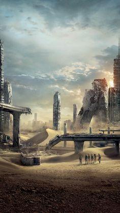 Maze Runner The Scorch, Maze Runner Movie, Maze Runner Trilogy, Maze Runner Series, Post Apocalyptic City, Apocalypse Aesthetic, Nagisa Shiota, Dylan Thomas, Thomas Brodie