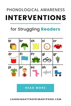 In this post, I describe the different phonological awareness skills I teach, as well as provide free phonological awareness interventions to help your students improve in each area. Phonemic Awareness Activities, Phonological Awareness, Struggling Readers, Second Grade, Read More, Kindergarten, Students, Teaching, Free