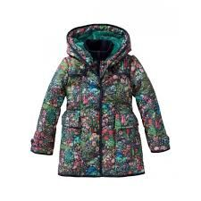 Boutique Oilily 98 Gorgeous Floral Winter Coat Excellent In Quality