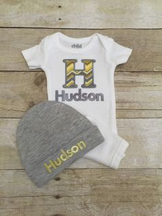 Baby boy coming home set by BabyRuthBoutique on Etsy