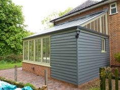 timber cladding extension pitch roof - Google Search