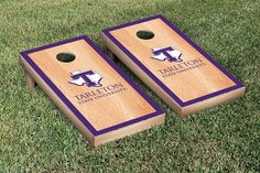 Hard Court w/ Border Tarleton State Texans Cornhole Game Set