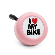 "Electra Bicycle Bell (I Love My Bike Pink) by Electra Bicycle Company. $7.27. Bell is chrome with New York style ""I (heart) My Bike"".. Fits: Standard bicycle handlebar.. I Love My Bike Bell is the perfect accessory for any bicycle fan.. I Love My Bike Bell Pink"