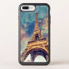 Chic Paris Eiffel Tower Cute Pastel Watercolor Speck iPhone Case - chic design idea diy elegant beautiful stylish modern exclusive trendy