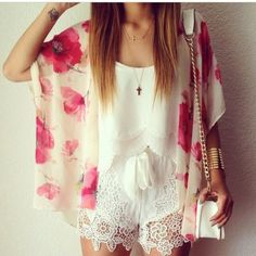 Floral coverup fashion jewelry flowers pretty roses lace white cross style purse cover up