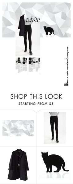 """""""white cat"""" by eleanor-nguyen ❤ liked on Polyvore featuring Rochas and 157+173 designers"""