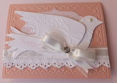 Easter Card made with the Stampin' Up Elegant Bird Bigz Die Cut