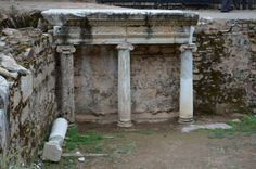 detail of the theater of Nyssa, the scene