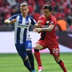 German Bundesliga Football Match - Hertha BSC vs Bayer Leverkusen