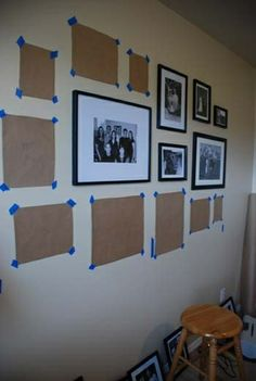 Hang the Perfect Gallery Wall & other picture display ideas Organisation Des Photos, Photowall Ideas, Diy Casa, Frames On Wall, Diy Picture Frames On The Wall, Hanging Frames, Picture Wall Collage, Modern Picture Frames, Home Projects