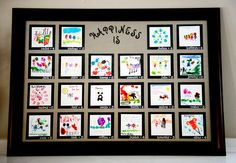 Happiness Is... small artwork done by each child showing what happiness means to them. (I love the way each portrait is framed in black with the child's name and age)