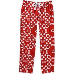 MLB Women's Cincinnati Reds Knit Sleep Pants, Size: XL, Red