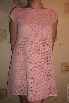 Vestidos hechos a mano. Black Crochet Dress, Crochet Lace, Knit Dress, Crochet Baby Sweaters, Crochet Clothes, Filet Crochet, Little Girl Dresses, Nice Dresses, Lace Top Outfits